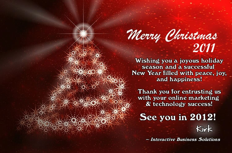 Merry Christmas and Happy New Year! | Interactive Business Solutions ...